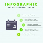 Calendar Day Date American Solid Icon Infographics 5 Steps Pr