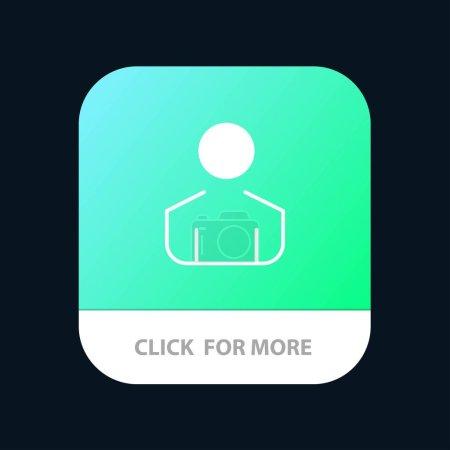 Hombre, Hombre, Persona Botón de aplicación móvil. Android y IOS Glyph Versi