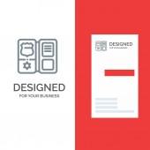 Book Shield American Star Grey Logo Design and Business Card