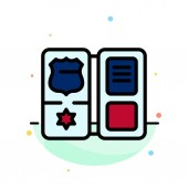 Book Shield American Star Abstract Flat Color Icon Template