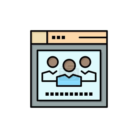 Browser, Network, Web, Education  Flat Color Icon....
