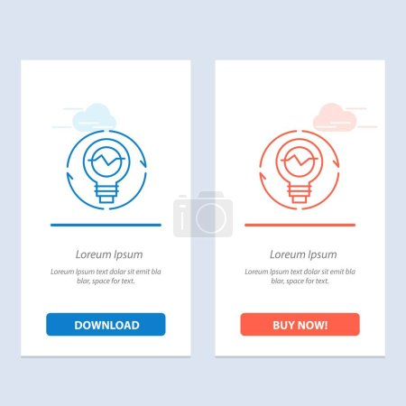 Photo for Bulb, Concept, Generation, Idea, Innovation, Light, Light bulb  Blue and Red Download and Buy Now web Widget Card Template - Royalty Free Image
