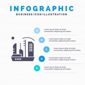City Colonization Colony Dome Expansion Solid Icon Infograph
