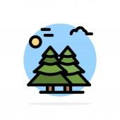 Alpine Arctic Canada Pine Trees Scandinavia Abstract Circle