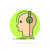 composer headphones musician producer sound Flat Color Icon