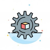 Automated Data Solution Science Abstract Flat Color Icon Temp