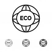 Environment Global Internet World Eco Bold and thin black li