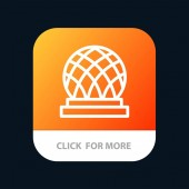 Building Canada City Dome Mobile App Button Android and IOS