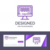 Creative Business Card and Logo template Live Streaming Live S