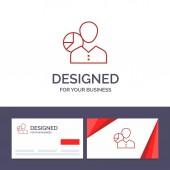 Creative Business Card and Logo template Graph Chart Data Emp