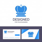 Creative Business Card and Logo template Crown King Royal Emp