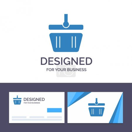 Illustration for Creative Business Card and Logo template Basket, Cart, Shopping, Spring Vector Illustration - Royalty Free Image