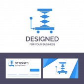 Creative Business Card and Logo template Car Construction Lift
