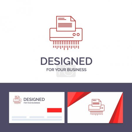 Illustration for Creative Business Card and Logo template Shredder, Confidential, Data, File, Information, Office, Paper Vector Illustration - Royalty Free Image