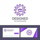 Creative Business Card and Logo template Automated Data Soluti