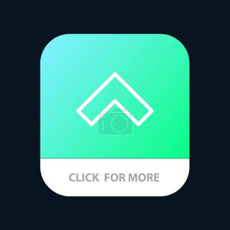 Flecha, Arriba, Forward Botón de aplicación móvil. Línea de Android e IOS Versi