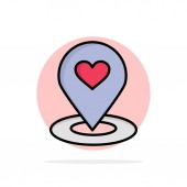 Location Map Location Finder Pin Heart Abstract Circle Backg