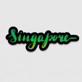 Handwritten lettering typography Singapore Drawn