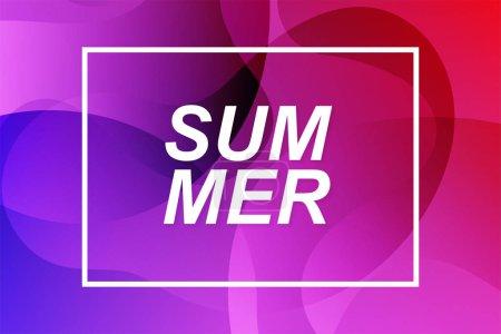 Photo pour Forme abstraite de fluides pour le fond d'été. couleurs roses et violettes - image libre de droit