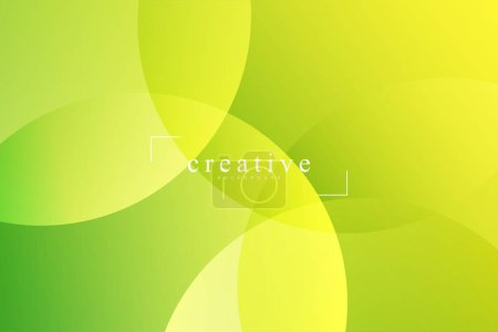 Photo pour Page d'atterrissage fluide, fond vert et jaune. Fluide, liquide, ondulé, gradient, fluide, fond de forme dynamique. Couleurs de fond tendance et modernes. Modèle créatif de conception de bannière. - image libre de droit