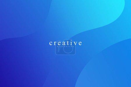 Photo pour Page d'atterrissage fluide, fond bleu. Fluide, liquide, ondulé, gradient, fluide, fond de forme dynamique. Couleurs de fond tendance et modernes. Modèle créatif de conception de bannière. - image libre de droit