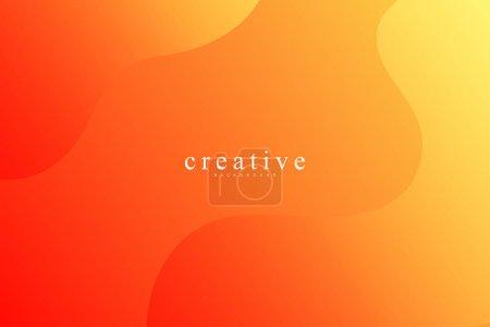 Photo pour Page d'atterrissage fluide, fond orange et jaune. Fluide, liquide, ondulé, gradient, fluide, fond de forme dynamique. Couleurs de fond tendance et modernes. Modèle créatif de conception de bannière. - image libre de droit