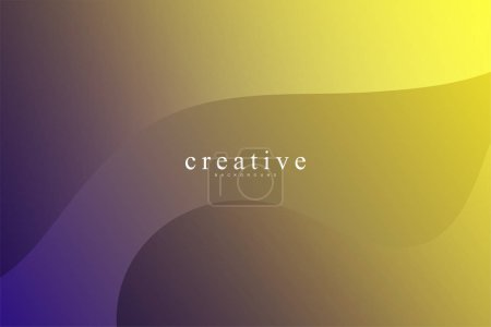 Photo pour Page d'atterrissage fluide, fond jaune et violet. Fluide, liquide, ondulé, gradient, fluide, fond de forme dynamique. Couleurs de fond tendance et modernes. Modèle créatif de conception de bannière. - image libre de droit