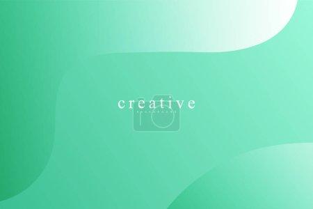 Photo pour Page d'atterrissage fluide, fond vert. Fluide, liquide, ondulé, gradient, fluide, fond de forme dynamique. Couleurs de fond tendance et modernes. Modèle créatif de conception de bannière. - image libre de droit