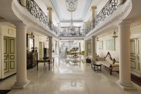 Photo pour Un habitacle de Hall Hôtel Helvecia - image libre de droit