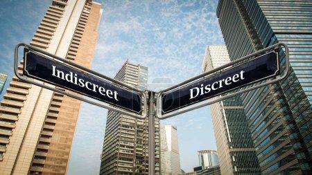 Street Sign to Discreet...