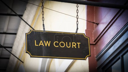 Photo for Street Sign Law Court - Royalty Free Image