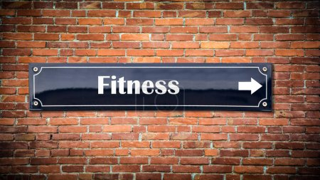 Photo for Street Sign the Direction Way to Fitness - Royalty Free Image