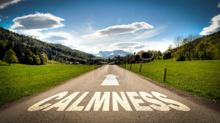 Photo for Street Sign the Direction Way to Calmness - Royalty Free Image