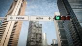 Street Sign to Active versus Passive