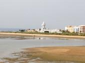 La Gaviota, the beach of Isla Cristina.La gola marsh