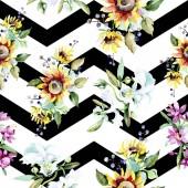 Постер Красивые акварельные цветы фон Акварель