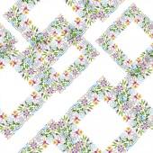 """Постер, картина, фотообои """"Акварель фон иллюстрации цветочные набор. Бесшовный фон узор. Обои для рабочего стола ткань печати текстуры"""""""