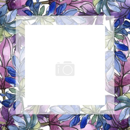 Photo for Purple lavender. Watercolor illustration set. Seamless background pattern. Fabric wallpaper print texture. - Royalty Free Image