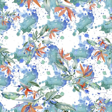 Photo for Bouquets floral botanical flower. Wild spring leaf isolated. Watercolor background illustration set. Watercolour drawing fashion aquarelle. Seamless background pattern. Fabric wallpaper print texture. - Royalty Free Image