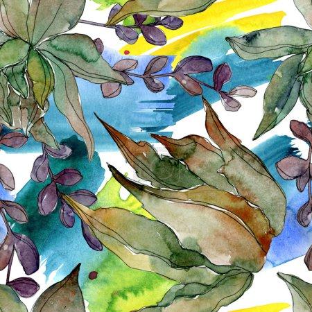 exotische tropische hawaiianische botanische Sukkulenten. Aquarell-Illustrationsset vorhanden. nahtlose Hintergrundmuster. Stoff Tapete drucken Textur.