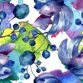 Постер Сочные Ботанический цветы акварельные иллюстрации