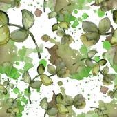 """Постер, картина, фотообои """"Экзотические тропические Гавайские ботанические суккулентов. Набор акварели иллюстрации. Бесшовный фон узор. Обои для рабочего стола ткань печати текстуры."""""""