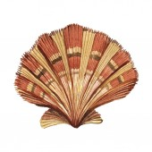 "Постер, картина, фотообои ""Seashell tropical element isolated on white. Watercolor background illustration """
