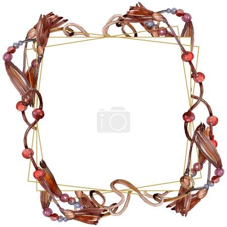 Photo pour Les ceintures esquissent l'illustration de glamour de mode. Les accessoires de vêtements placent la tenue à la mode. Ensemble d'illustration de fond d'aquarelle. Aquarelle de dessin à l'aquarelle. Élément de ceintures isolées. - image libre de droit