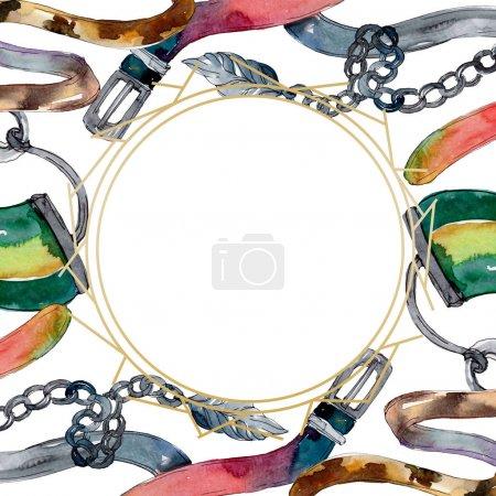Photo pour Vêtements et illustration d'accessoires de mode à la mode d'isolement sur le blanc - image libre de droit
