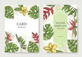 Palm beach tree leaves jungle botanical Black and gren engraved ink art Wedding background card decorative border