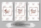 Vector Summer beach seashell tropical elements Template cards