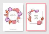 Vector Summer beach seashell tropical elements Engraved ink art Wedding background card decorative border