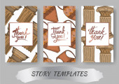 Vector Antique greek amphoras and columns element Black and white engraved ink art Wedding background card
