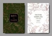 Vector Tropical floral botanical flower Engraved ink art Wedding background card floral decorative border